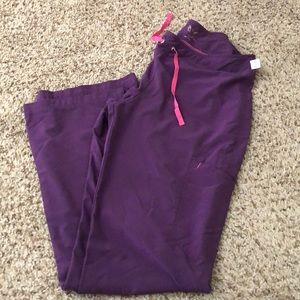 NWOT smitten purple scrub set